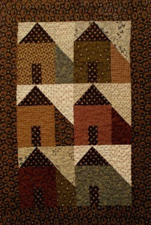 Mini House Primitive Quilt Pattern