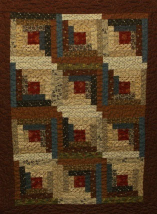 Mini Log Cabin Primitive Quilt Pattern