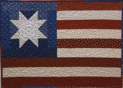 Primitive Mini Patriotic Flag Quilt Pattern