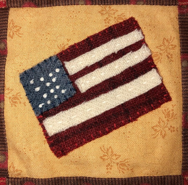 Mini Wool Quilt BOM Block 15 - Flag