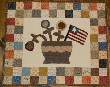 Patriotic Patchwork Primitive Pattern - Digital Download