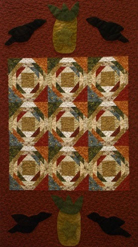 Pineapples & Crows Primitive Quilt Pattern-Digital Download