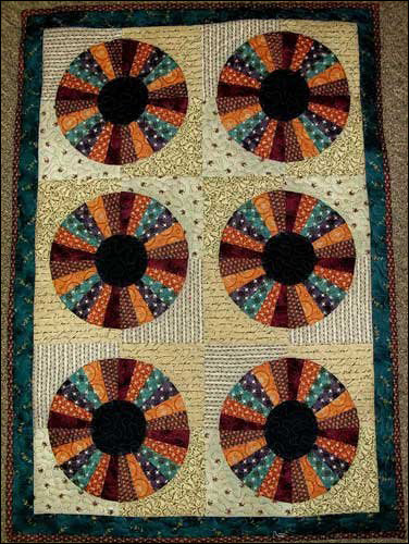 Scrappy Wheels Primitive Quilt Pattern - Digital Download