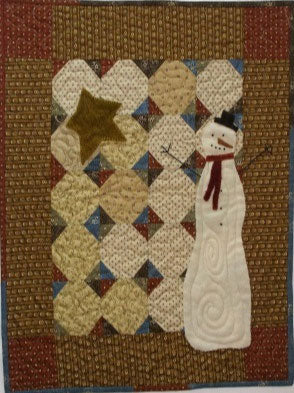 Snowtime Primitive Quilt Pattern-Digital Download