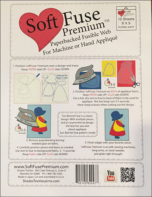 Soft Fuse Paper Backed Fusible Web