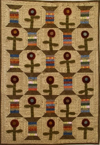 Spools in the Flower Patch Quilt Pattern- Digital Download