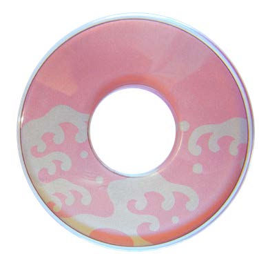 Deluxe Decorated Plastic Tsuba - Pink Namigashira