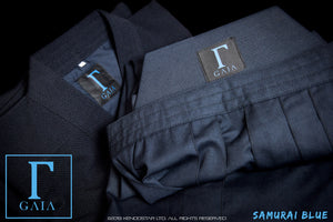 *NEW for 2020 - 50% OFF SPECIAL* - SAMURAI BLUE: 'GAIA' - Elite Featherweight Kendogi & Pleat-Lock Hakama Uniform Set