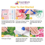 Load image into Gallery viewer, Cat and Pink Flowers DIY Diamond Painting Kit