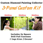 Load image into Gallery viewer, Custom Paint With Diamonds - 3 Panels 1:1
