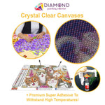 Load image into Gallery viewer, Flowers & Dragonfly DIY Diamond Painting Kit