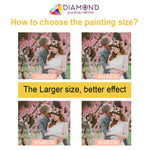 Load image into Gallery viewer, Stained Glass Clock DIY Diamond Painting Kit