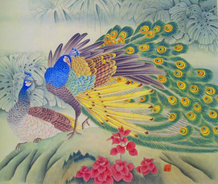 Delightful Peacocks DIY Diamond Painting Kit