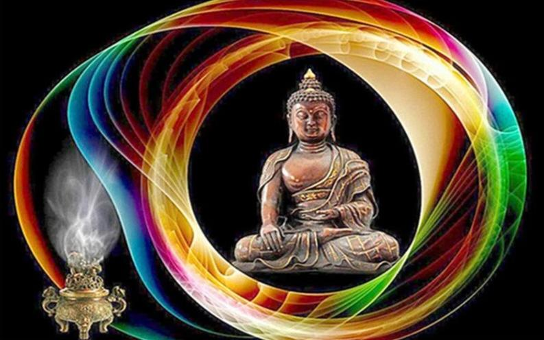 Color outline Buddha DIY Diamond Painting Kit