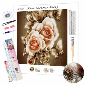 Abstract Flower DIY Diamond Painting Kit