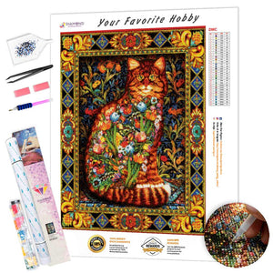 Abstract Mosaic Cat DIY Diamond Painting Kit