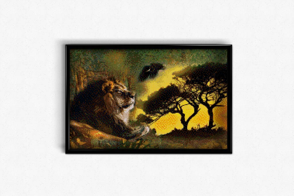 African Predators DIY Diamond Painting Kit