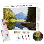 Load image into Gallery viewer, Alpine Lake DIY Diamond Painting Kit