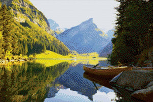 Alpine Lake DIY Diamond Painting Kit