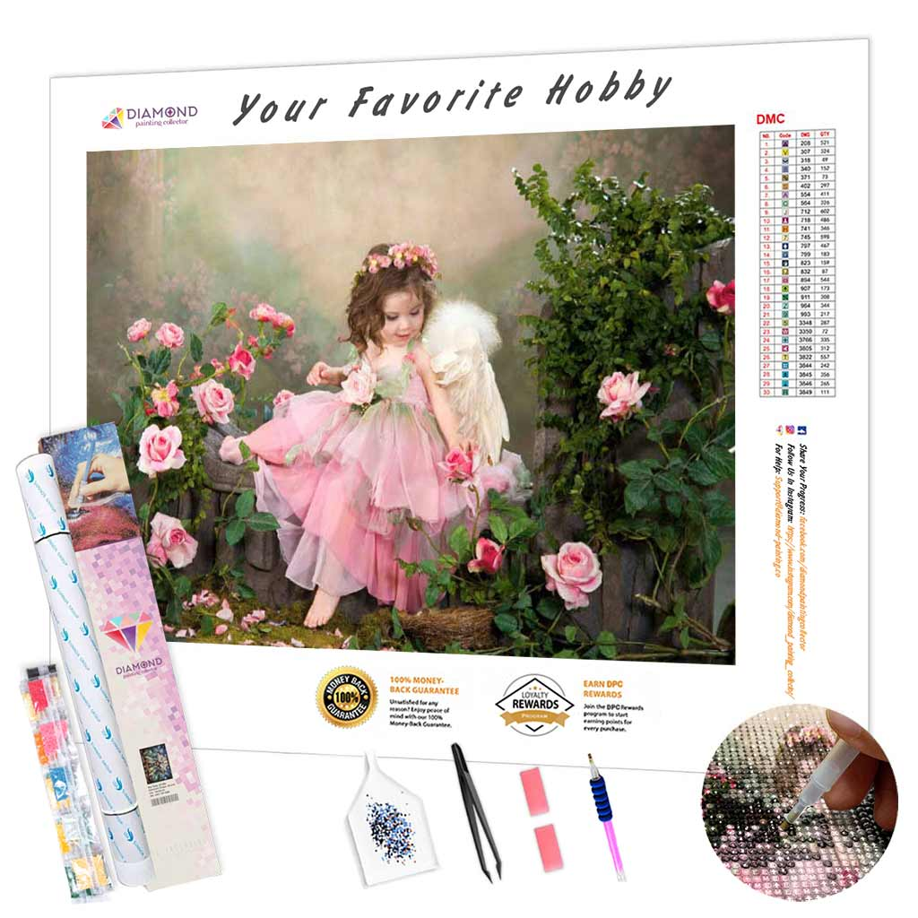 Angel and Roses DIY Diamond Painting Kit
