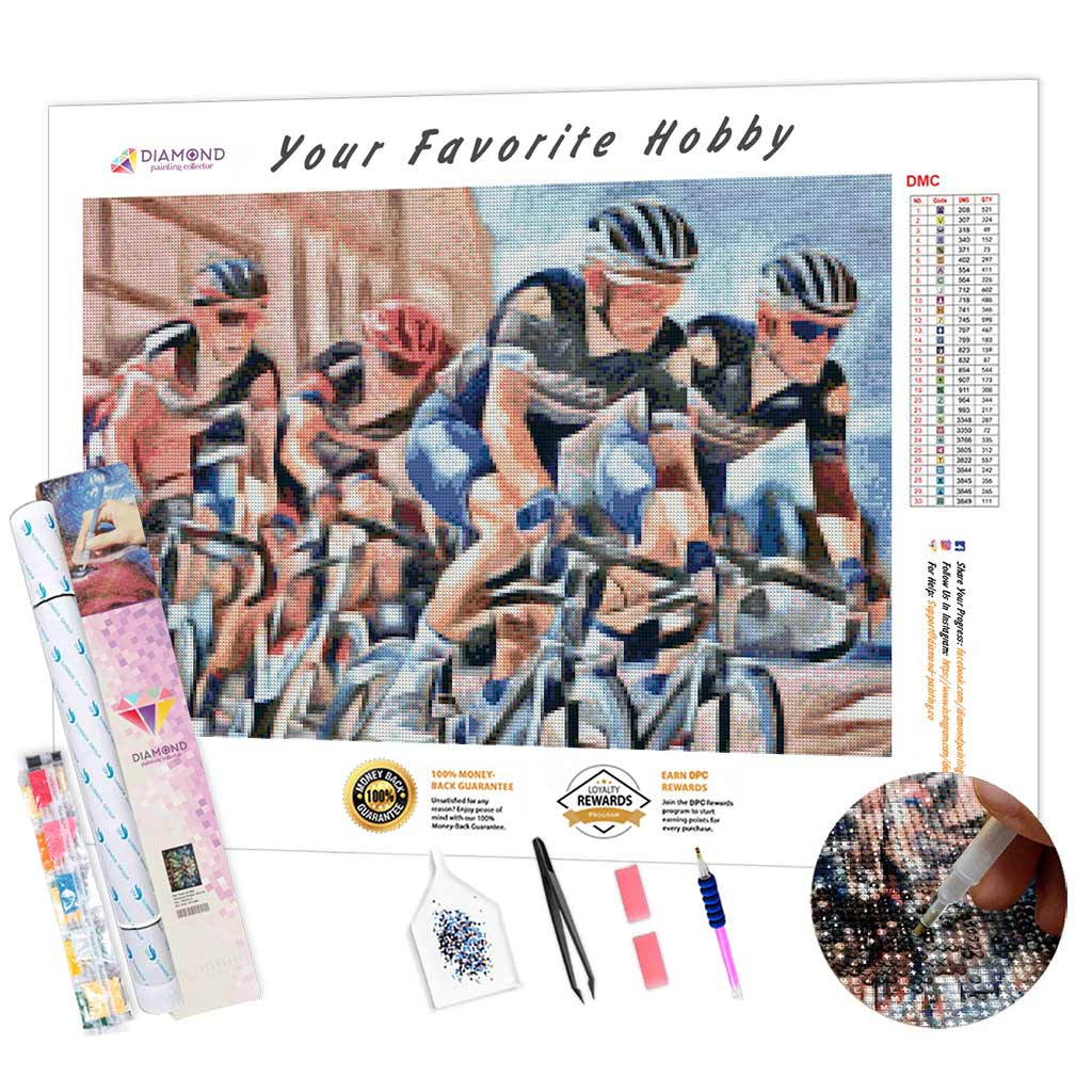 Art Bicycle Race DIY Diamond Painting Kit
