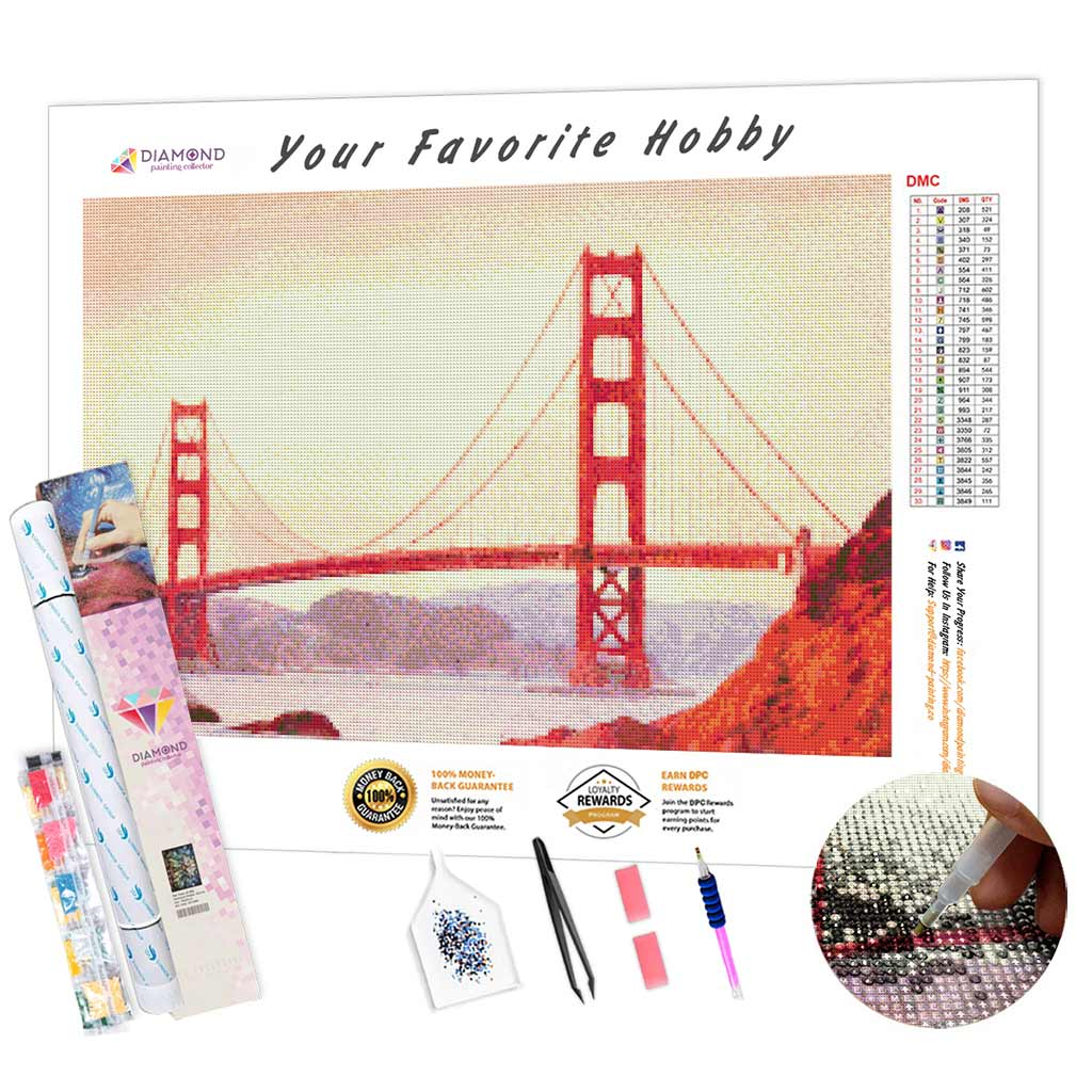 Art Bridge Golden Gate DIY Diamond Painting Kit