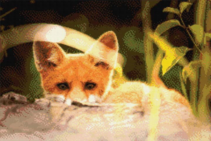 Attentive Fox DIY Diamond Painting Kit