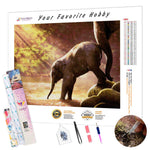 Load image into Gallery viewer, Baby Elephant by the Water DIY Diamond Painting Kit