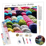 Load image into Gallery viewer, Balls of Yarn DIY Diamond Painting Kit