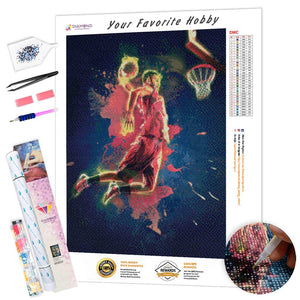 Basketball Player Throw DIY Diamond Painting Kit