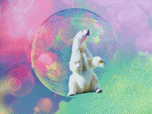 Bear in the Soap Bubble DIY Diamond Painting Kit