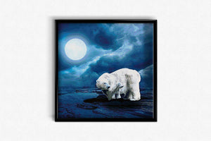 Bears under the Moon DIY Diamond Painting Kit