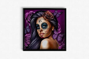 Beautiful Woman with make-up Skull DIY Diamond Painting Kit