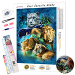 Load image into Gallery viewer, Big Cats DIY Diamond Painting Kit