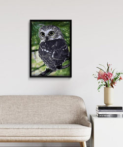 Black Owl DIY Diamond Painting Kit