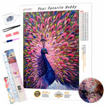Load image into Gallery viewer, Blue pink Peacock DIY Diamond Painting Kit