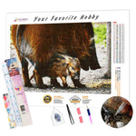 Load image into Gallery viewer, Boar Family DIY Diamond Painting Kit