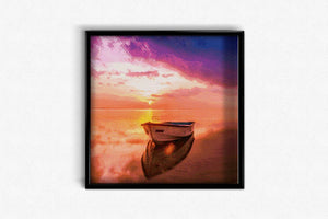 Boat on the Lake DIY Diamond Painting Kit