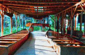 Boats under the Canopy DIY Diamond Painting Kit