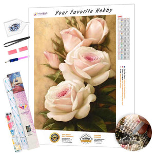 Bouquet of White Roses DIY Diamond Painting Kit
