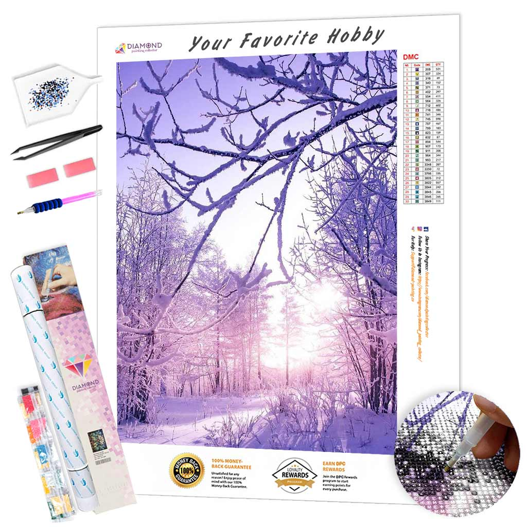 Branches in the Snow DIY Diamond Painting Kit