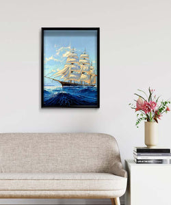 Brigantine on the Sea DIY Diamond Painting Kit