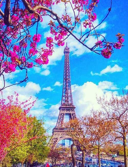 Bright Colors of the Paris Tower DIY Diamond Painting Kit