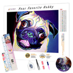 Load image into Gallery viewer, Bright Pug DIY Diamond Painting Kit
