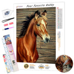 Load image into Gallery viewer, Brown Stallion DIY Diamond Painting Kit