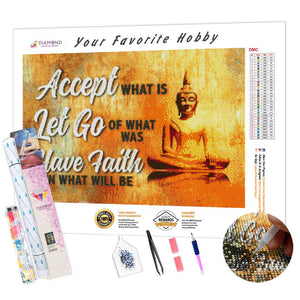 Buddha and the Inscription DIY Diamond Painting Kit