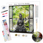 Load image into Gallery viewer, Buddha on the window DIY Diamond Painting Kit