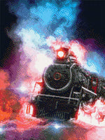 Load image into Gallery viewer, Burning Locomotive DIY Diamond Painting Kit