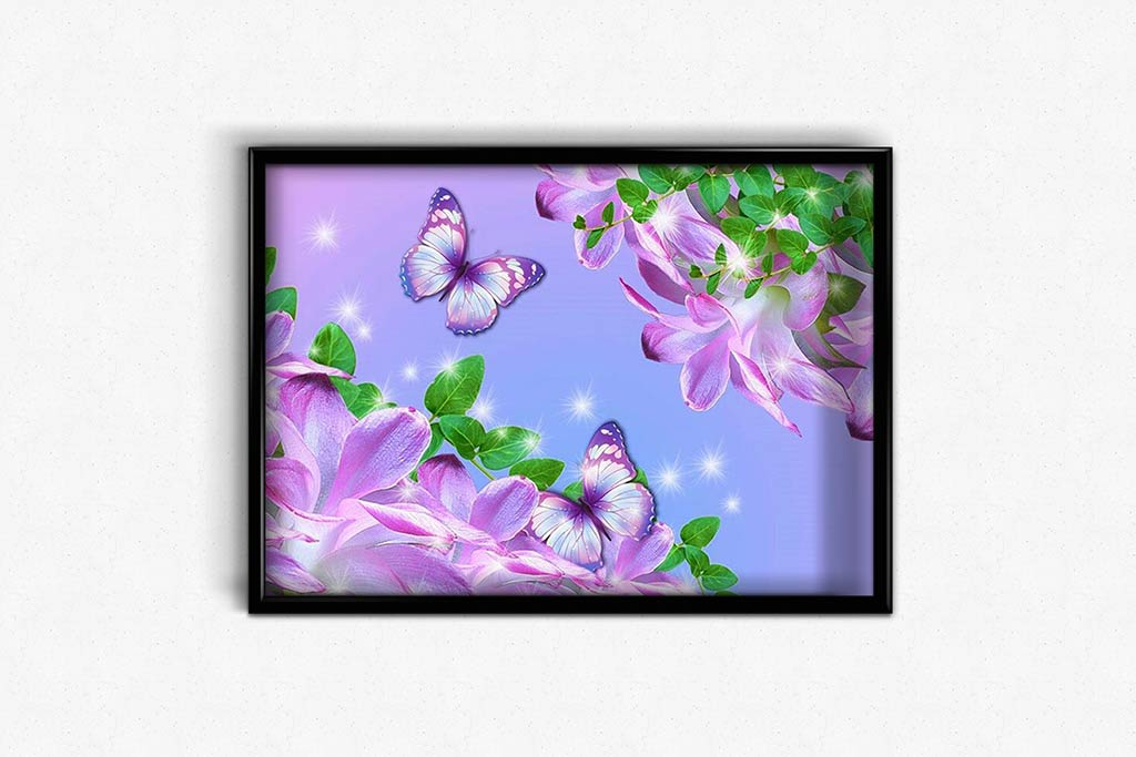 Butterflies and Crocus DIY Diamond Painting Kit