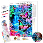 Load image into Gallery viewer, Butterflies at the Waterfall DIY Diamond Painting Kit